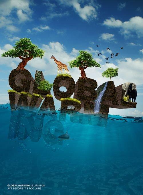 30款全球变暖公益广告欣赏图片