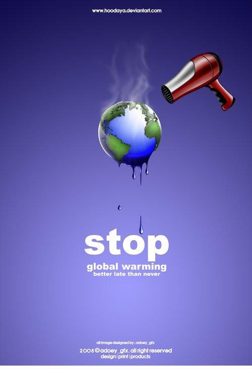 全球资讯_30款全球变暖公益广告欣赏(2) - 设计之家