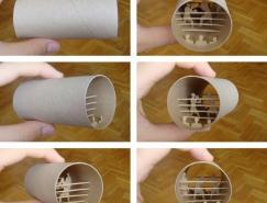 卷筒卫生纸里的纸雕艺术
