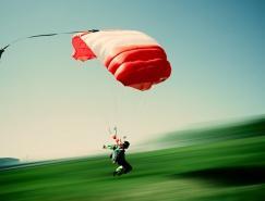 摄影欣赏:挑战极限的跳伞运