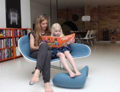 HanneKortegaard澳门金沙网址的蚌形多功能椅子