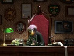 43张动物3D渲染作品