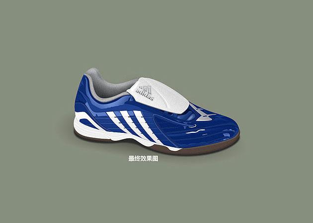 Photoshop制作一只逼真的运动鞋