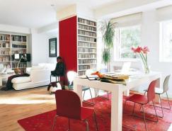 红色点缀的温馨公寓设计