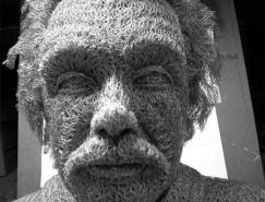 藝術家IvanLovatt鐵線網3D名人肖像雕塑