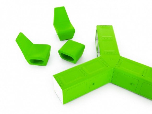 红点获奖作品:beta绿色概念办公家具组合 - 设计之家图片