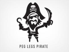 标志设计元素运用实例:海盗和忍者