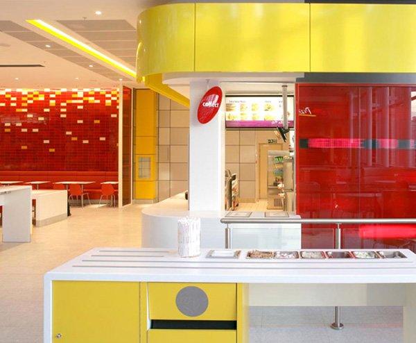 杭州快餐店设计装修零室二厅二卫装修案例效果图 385平米