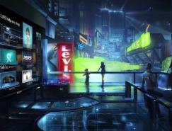 漂亮的未來城市插畫作品