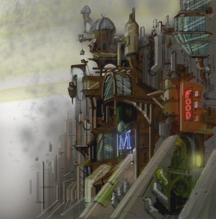 18张蒸汽朋克风格城市插画欣赏