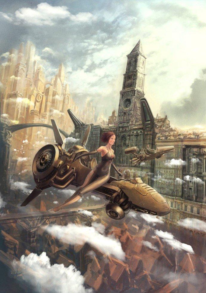 广告公司画册_18张蒸汽朋克风格城市插画欣赏 - 设计之家