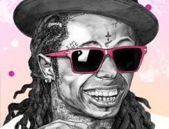HipHop歌手肖像插画欣赏