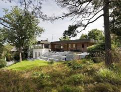 环抱自然美景:拥有户外庭院的湖滨别墅