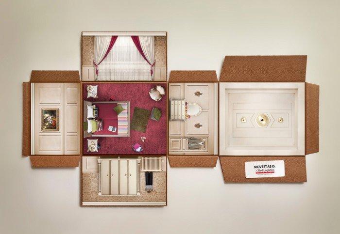 搬家犹如搬箱子:Red-Logistics搬家服务广告欣赏