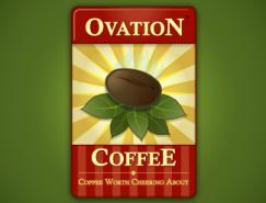 标志设计元素运用实例:咖啡