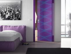 現代室內門:時尚超酷圖形和色彩設計