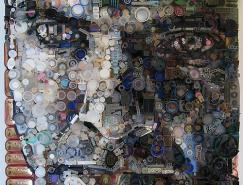 ZacFreeman运用废旧元件拼贴的人物肖像艺术