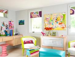 明亮和色彩繽紛的臥室設計欣賞