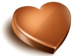 Photoshop制作光滑的巧克力立体心形
