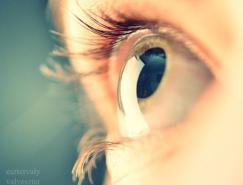 微距镜头下的眼睛特写