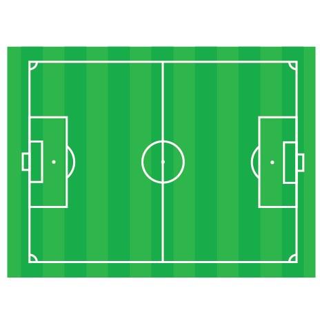 足球场地矢量图素材
