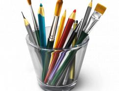 筆筒里的畫筆png圖512x512