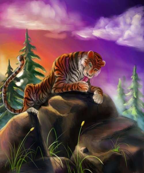 35张漂亮的动物数字绘画作品