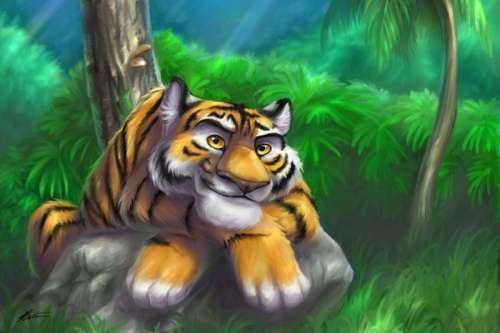 35张漂亮的动物数字绘画作品(3)