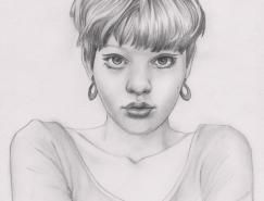 JennyMotsell铅笔画作品