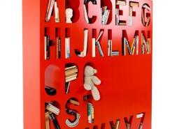 色彩缤纷的字母存储空间(隔间