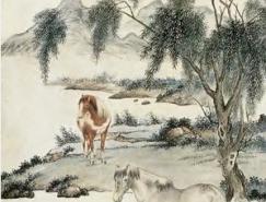 近代著名画家�I马晋作品欣赏