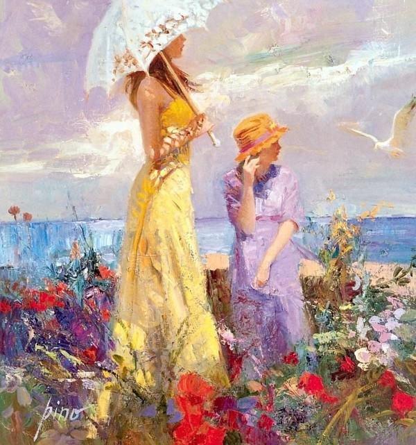 意大利画家Pino Daeni油画作品欣赏