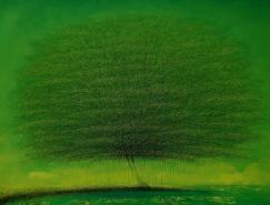 越南年轻艺术家VuCongDien风景绘画作品