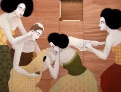 伊拉克女画家HayvKahraman插画作品欣赏