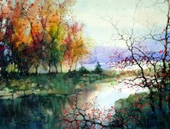 Z.L.Feng美丽的水彩风景画欣赏