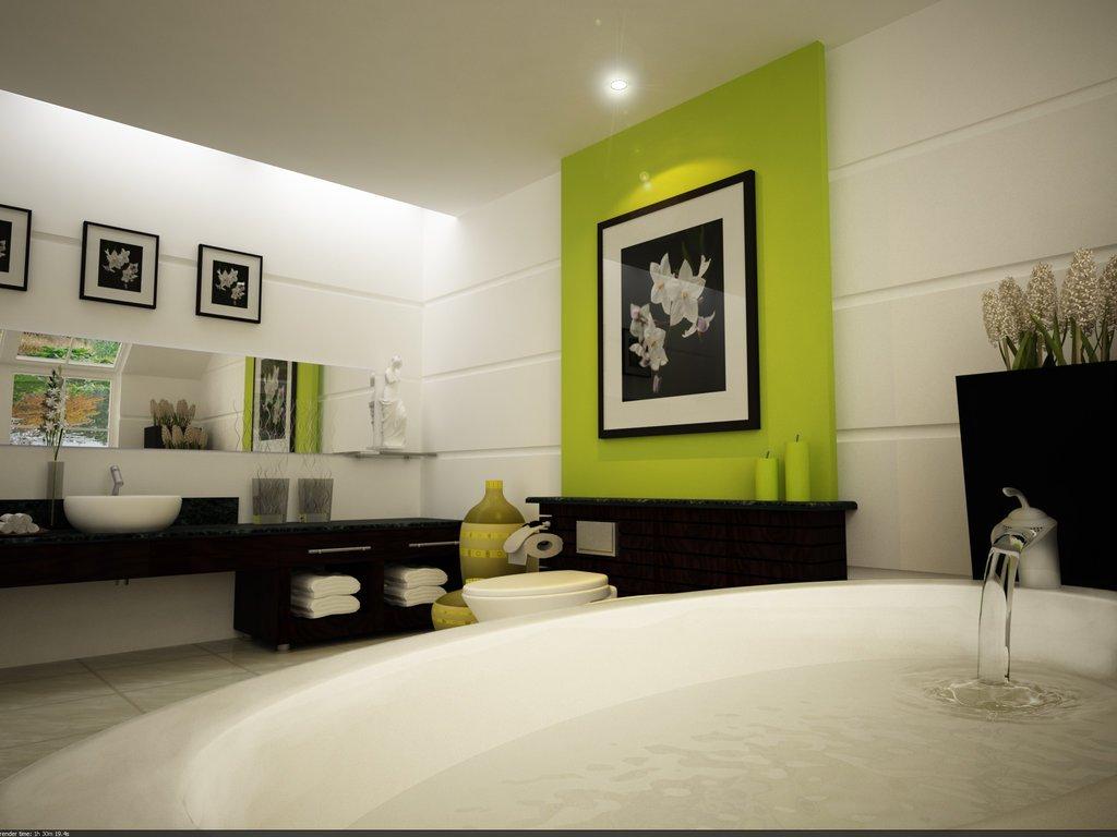 浴室设计效果图 浴室瓷砖装修效果图 农村浴室装修效果图