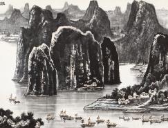 李可染巨幅山水画《漓江天下景》
