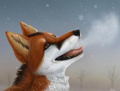 BlueHunter狐狸插画作品