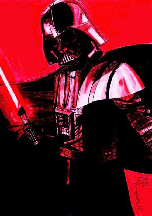 怪兽_星球大战Darth Vader(黑武士)插画设计欣赏(5) - 设计之家