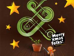 溫暖你的心:圣誕節賀卡設計