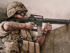 纽约插画师DannyQuirk战争插画设计