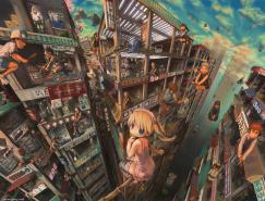 日本JohnHathway色彩灿烂的3D插画欣赏
