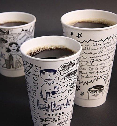 30款创意咖啡纸杯设计欣赏