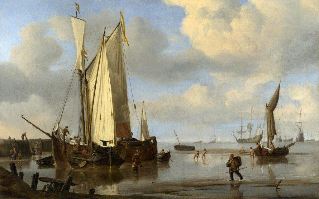 伦敦国家画廊:杰出的战舰及海景绘画作品