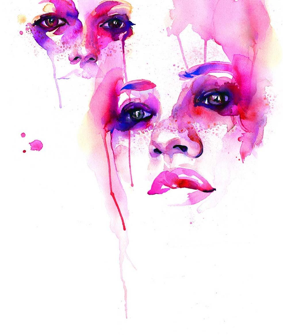 marionbolognesi眼睛系列水彩画作品欣赏