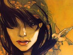 38张漂亮的肖像绘画作品欣赏