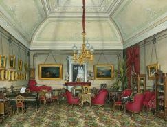 俄罗斯水彩画家EdwardPetrovichHau:宫殿绘画
