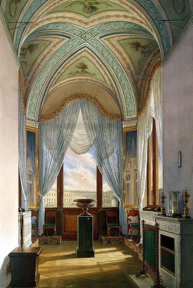 俄罗斯水彩画家edward petrovich hau:宫殿绘画艺术(上)(2)
