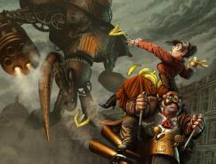 30张幻想的Steampunk(蒸汽朋克)插画欣赏
