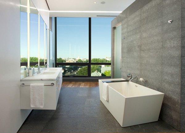 俯瞰Minneapolis湖的现代复式住宅设计